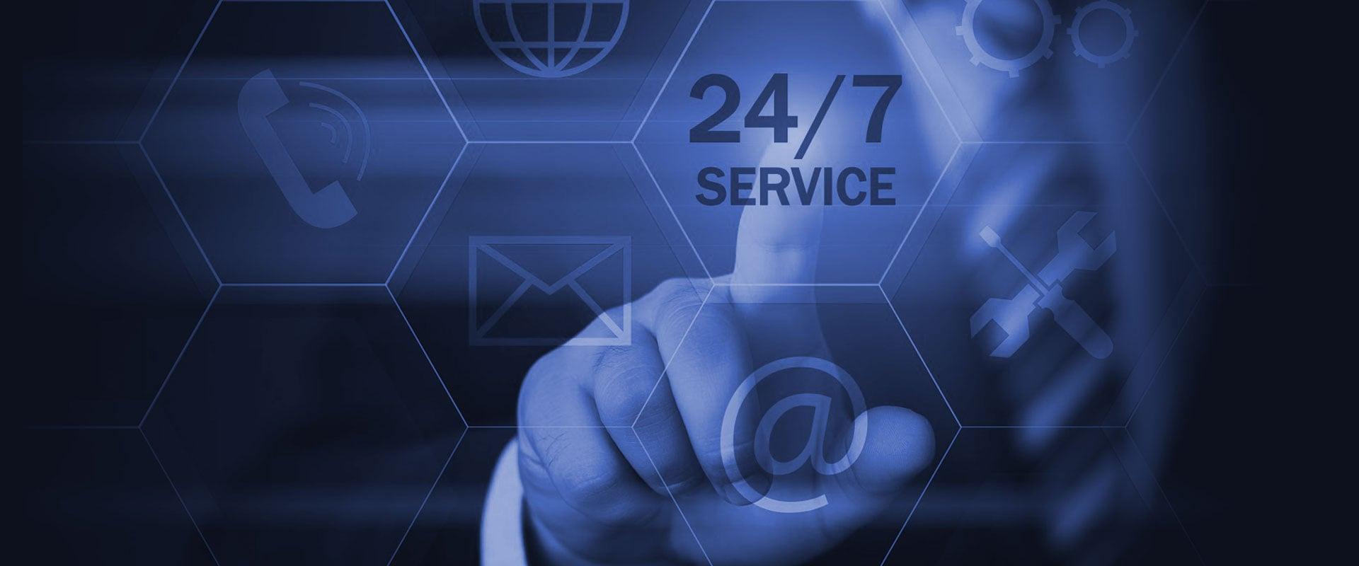 Servicio de soporte y mantenimiento 24 horas los 365 días